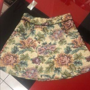 FP jacquard mini skirt, size 6